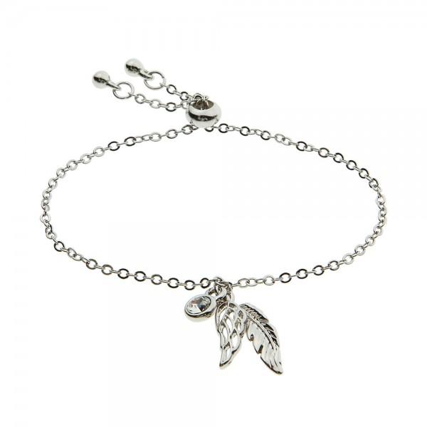 Armband mit Engelsfeder Silber