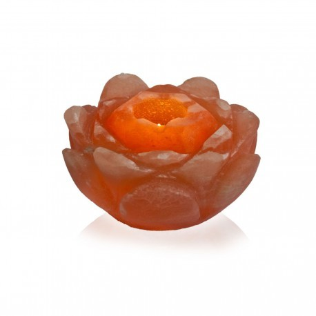 Salzkristall Lotusblüte Teelicht