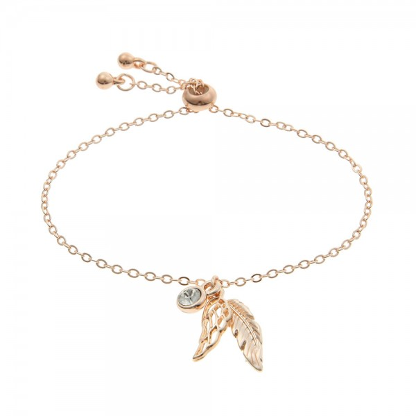 Armband mit Engelsfeder Rosé
