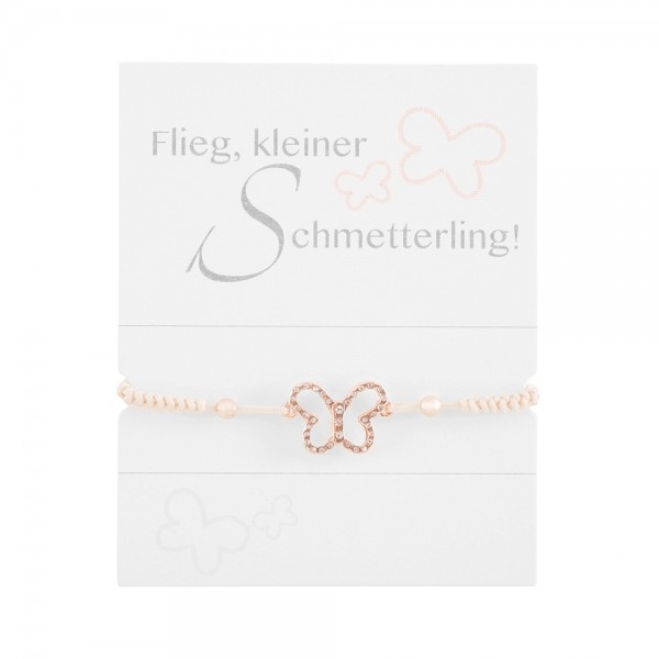 Geknüpftes Armband - Schmetterling